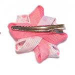View Image 2 of Rosette and Dots Dog Bow - Pink and Blue