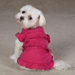View Image 1 of Ruffle Dog Tank - Raspberry