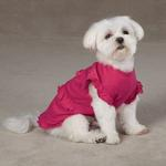 View Image 3 of Ruffle Dog Tank - Raspberry