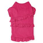 View Image 2 of Ruffle Dog Tank - Raspberry