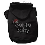 View Image 1 of Santa Baby Dog Hoodie - Black
