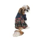 View Image 2 of Scottie Plaid Jumpsuit by Puppia - Navy