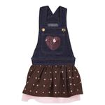 View Image 3 of Sequin Denim Jumper Dress by East Side Collection - Chocolate