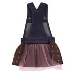 View Image 2 of Sequin Denim Jumper Dress by East Side Collection - Chocolate