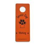 Service Dog Working Door Hanger - Orange