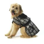 View Image 1 of Sherlock Plaid Dog Coat - Gray