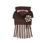 View Image 1 of Signature Pinkaholic Stripe Dress - Brown & White