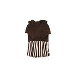 View Image 3 of Signature Pinkaholic Stripe Dress - Brown & White