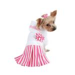 View Image 2 of Signature Pinkaholic Stripe Dress - White & Pink
