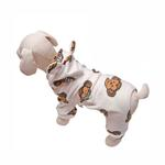 View Image 1 of Silly Monkey Fleece Hooded Dog Pajamas by Klippo - White