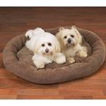 View Image 1 of Slumber Pet Deluxe Chenille Beds - Chocolate