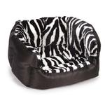 View Image 2 of Slumber Pet Plush Safari Nesting Dog Bed - Zebra