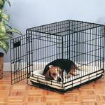 View Image 2 of Slumber Pet Sherpa Crate Bed - Beige