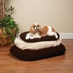 View Image 2 of Slumber Pet Therapeutic Memory Foam Oval Bed - Chocolate