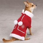 View Image 1 of Snowflake Pom Pom Dog Sweater