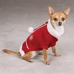 View Image 5 of Snowflake Pom Pom Dog Sweater
