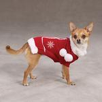 View Image 4 of Snowflake Pom Pom Dog Sweater