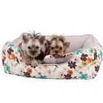 View Image 1 of Soft Spice House Dog Bed by Puppia - Brown
