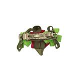 View Image 2 of Solid Petal Flower Dog Barrette - Lime/Hot Pink