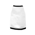 View Image 1 of Spandex & Cotton Dog Tank Top - White with Black trim