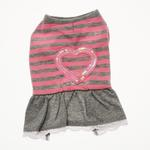 View Image 1 of Sparkling Heart Dog Dress by Dogo