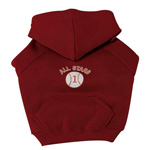 View Image 1 of Sports Hooded Dog Sweatshirt -  Baseball