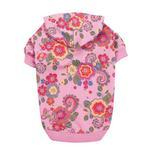 View Image 2 of Spring Garden Pullover Dog Hoodie - Begonia Pink