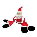 View Image 1 of Squeaky Squiggler Santa Dog Toy
