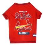 St. Louis Cardinals Dog T-Shirt - Red
