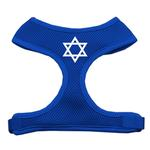 Star of David Mesh Dog Harness - Blue