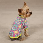 View Image 1 of Starburst Tie Dye Dog T-Shirt - Yellow