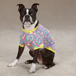 View Image 3 of Starburst Tie Dye Dog T-Shirt - Yellow