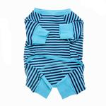 View Image 2 of Striped Dog Pajamas - Blue