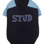 View Image 1 of Stud Navy Dog Shirt