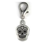 View Image 1 of Sugar Skull Dog Collar Charm