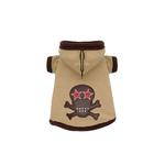 View Image 1 of Super Soft Tan Skull Hoodie by Hip Doggie
