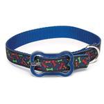 View Image 1 of Super Stars & Bones Dog Collar - Blue