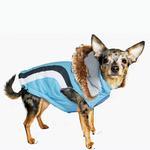 View Image 4 of Swiss Alpine Ski Dog Vest by Hip Doggie - Blue