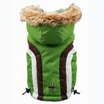 View Image 3 of Swiss Alpine Ski Dog Vest by Hip Doggie - Green