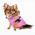 View Image 3 of Swiss Alpine Ski Dog Vest by Hip Doggie - Pink