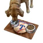 View Image 1 of Texas Rangers Pet Bowl Mat
