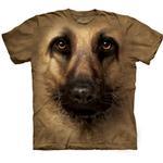 View Image 1 of The Mountain Human T-Shirt - German Shepherd Face