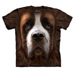 View Image 1 of The Mountain Human T-Shirt - Saint Bernard Face