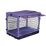 View Image 1 of The Other Door Steel Dog Crate Plus - Lavender