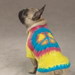 View Image 1 of Tie Dye Peace Sign Dog T-Shirt - Yellow