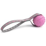 View Image 1 of Toss N Tug Dog Toy by Doggles - Pink Flower