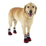 View Image 1 of Trail Trackers Dog Boots by Doggles - Red and Black