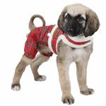 View Image 1 of Trinity Dog Harness Jumpsuit by Pinkaholic - Red
