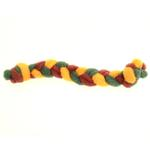 View Image 3 of Twist Braided Dog Tug Toy - Wine
