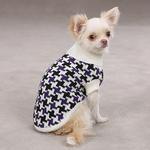 View Image 1 of Ultra Violet Houndstooth Sweater